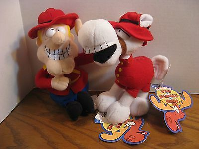 Dudley Do Right and Horse Stuffed Plush Bean Bags from Rocky & Bullwinkle 2000