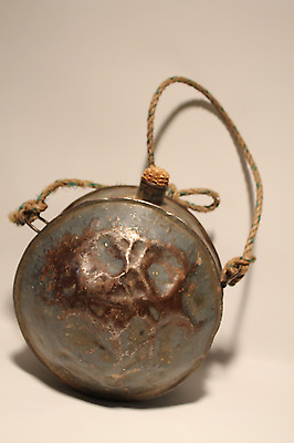 Vintage Antique Metal Ball Type Canteen, Unmarked With A Corncobb Stopper And A • $29.99