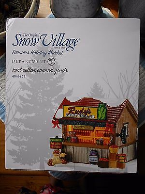 Department 56 Snow Village Root Cellar Canned Goods Nib