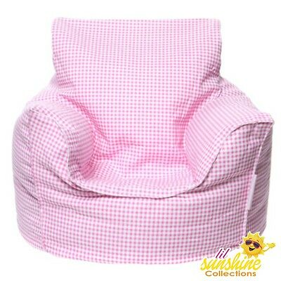 Mini Beanz Pink Toddler Kids Lounge Bean Bag Seat Chair