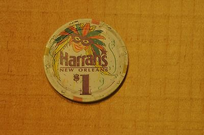 $1 Cash Chip From The Harrah's Casino New Orleans