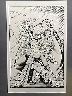 Flash sketch,11 x 17, Original art by Greg LaRoque and José Marzan jr. Amazing!!