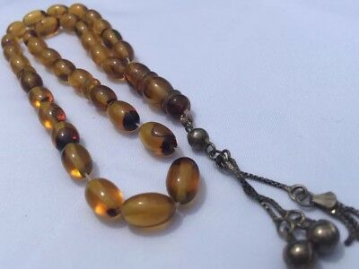Natural Amber Kehribar Prayer Beads