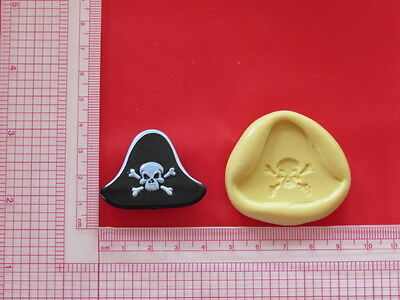 Pirate Hat Silicone Mold Polymer Clay Resin Wax mould A859 Candy Fondant