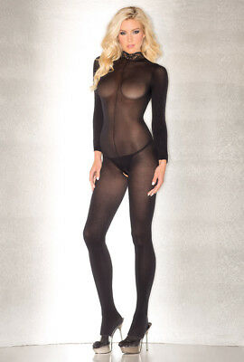 Be Wicked black sheer long sleeve bodystocking