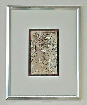 PABLO PICASSO -- A 1930s ORIGINAL INK DRAWING, CUBIST PORTRAIT, SIGNED, FRAMED