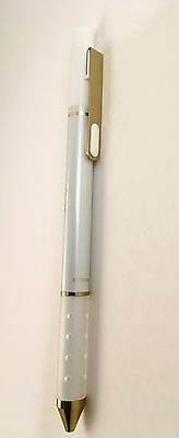 Tul Retractable Gel Pen Pearl White/Gold Limited Edition Med Black Ink