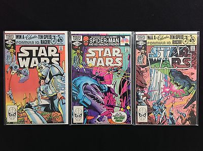 STAR WARS Lot of 3 Marvel Comic Books - Run #53 54 55 - High Grade!