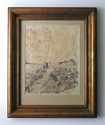 Vincent Van Gogh  -- A Very Old Landscape Pencil Drawing, Signed, History, Rare