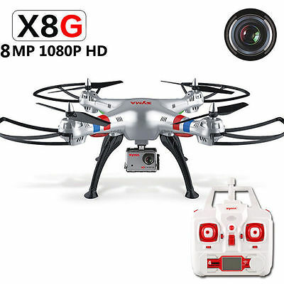 Syma X8G RC Drone Quadcopter Helicopter ith 5MP HD Camera & Headless Mode UK