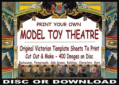 ☆ VINTAGE PAPER MODEL TOY THEATRES ☆ PRINT, CUT & MAKE ☆ 100's Sheets Images ☆