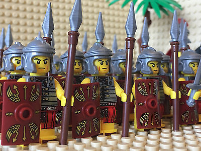 Roman Army Fighters Minifigs Horse Riders Tree Flowers & Lego Brick Separator