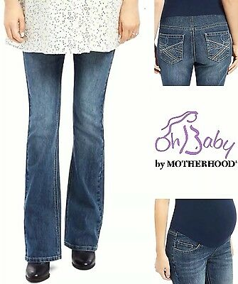 New OH BABY MATERNITY Faded Bootcut Jeans S M L XL MOTHERHOOD Secret Belly $60