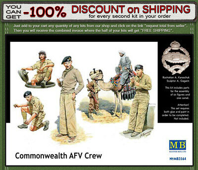 """Master Box 3564 """"Commonwealth AFV crew"""" British Troops in Africa WWII 1/35"""