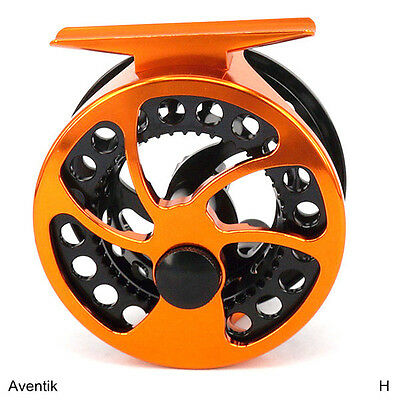 Aventik CNC Machined Light Weight Click Stop Fly Fishing Reel 0/5 Large arbor