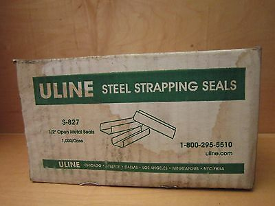 "Uline S-827 1/2"" Open Metal Steel Strapping Seals 1000 Per Case Galvanized!"