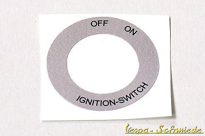 """VESPA sticker Ignition barrel """"Off - On"""" - PX Rally PV ET3 - 125 200 Lusso"""