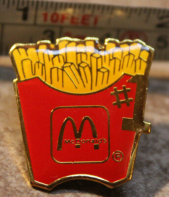 McDonalds #1 French Fries Employee Collectible Pinback Pin Button