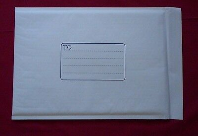 100 x Bright White Bubble Padded Mailer / Envelope Size 5 - 266 x 381mm