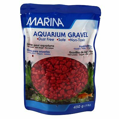Marina Aquarium Gravel Red 450G Fish Tank Substrate