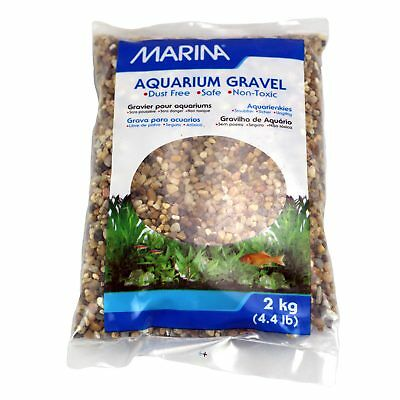 Marina Aquarium Gravel Natural Grey Creek Gravel 2KG Fish Tank Substrate