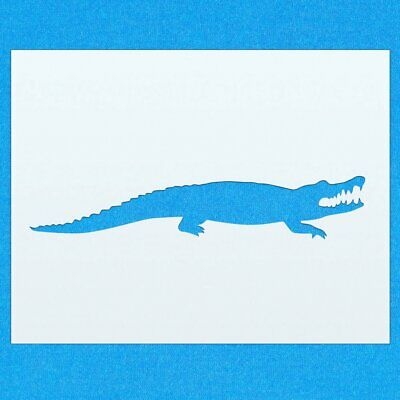 Alligator Reptile Animal Mylar Airbrush Painting Wall Art Stencil two