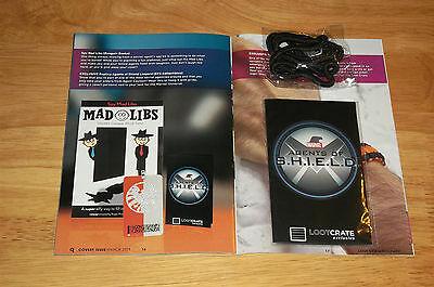 Loot Crate Exclusive Marvel Agents of Shield Replica Badge Lanyard - NEW