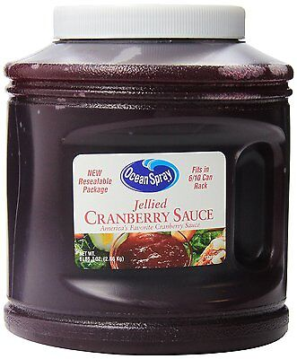 Ocean Spray Jellied Cranberry Sauce,Resealable Container,  101-Ounce, Pack of 6