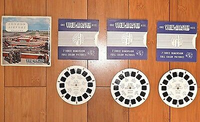 Viewmaster Reels -  London Airport England -  Sawyers - Gaf -  C283