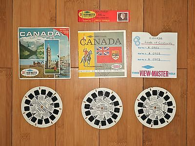 Viewmaster Reels-  Canada Nations Of The World Gaf   A 090 - Rare