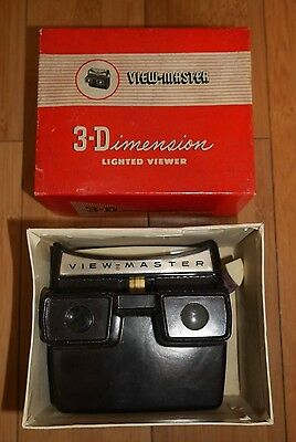 BOXED VINTAGE SAWYER'S VIEWMASTER LIGHTED VIEWER ORIGINAL 50s MODEL F RARE
