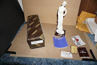 Giuseppe G Armani Lady Rider Figurine 1987 Florence In Box W/ Papers Art 0420-F