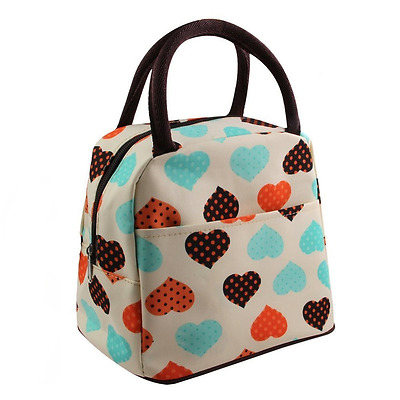 Ladies Insulated Lunch Bag Picnic Cooler Box Girls Carry Tote Portable Storage