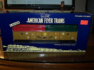 American Flyer S Scale 6-48545 Christmas Gondola Naughty & Nice Coil Covers NIB