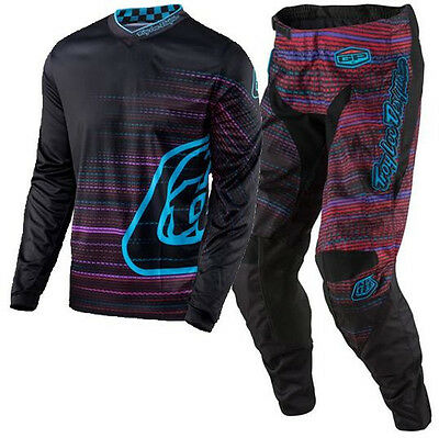 NEW TROY LEE DESIGNS MX 2017 GP Electro Black MX Motocross Jersey & Pants Outfit