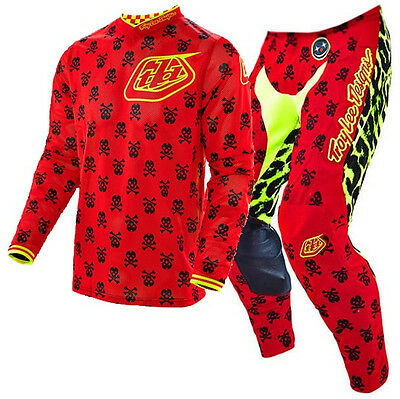 NEW TROY LEE MX 2017 GP Anarchy Red Yellow Motocross Jersey & Pants Outfit TLD