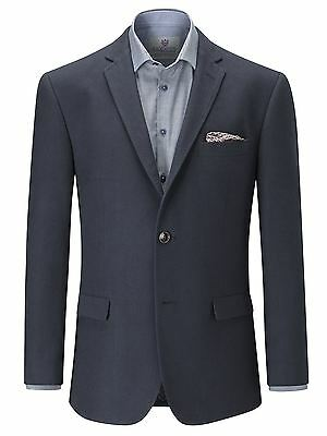 SKOPES Soft Canvas Tailored Sports Jacket in Navy in Chest Size 34 to 62 Inches