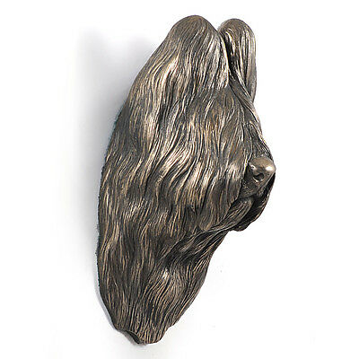 Briard, dog statuette to hang on the wall, UK