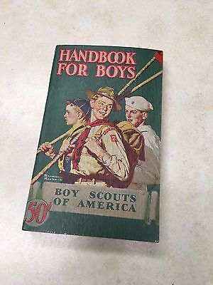 1946 Boy Scout Handbook - Norman Rockwell Cover - Excellent Condition