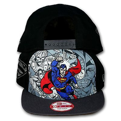 Original NEW ERA - 9FIFTY SNAPBACK CAP Superman Hero Break Out a041b7c7354c