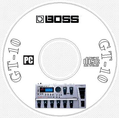 Boss GT-10 Sounds Patch Library, Manual, MIDI Software & Editors CD .. GT10