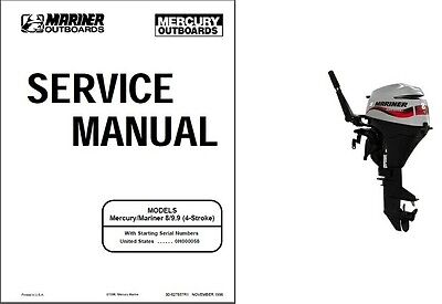 Mercury / Mariner 8 - 9.9 (4-Stroke) Outboard Motor Service Repair Manual CD