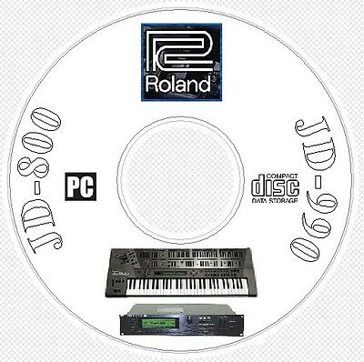 Roland JD-800 / JD-990 Sound Library Patches MIDI Software Editors & Manual CD