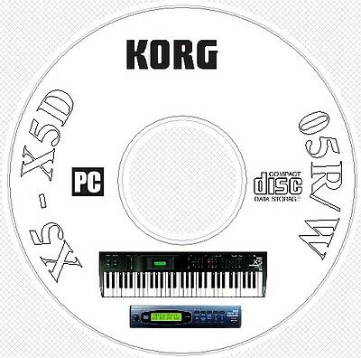 Korg X5 X5D 05R/W Synth Sound / Patch Library, Manual MIDI Software & Editors CD