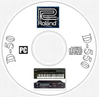Roland D-50 D-550 Sound Library Patches MIDI Software Editors & Manual CD -  D50