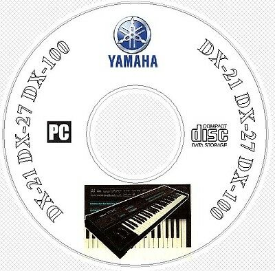 Yamaha DX21 DX27 DX100 Sound Library, Patches, Manual MIDI Software & Editors CD