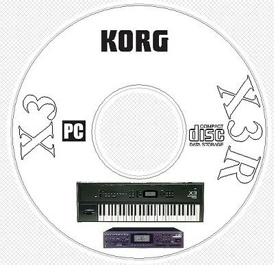 Korg X3 / X3R Sound Patches Library Manual MIDI Software & Editors CD ..  X 3 R