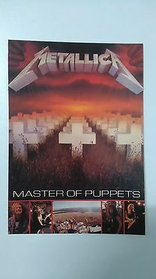Metallica master of Puppets vintage music postcard POST CARD