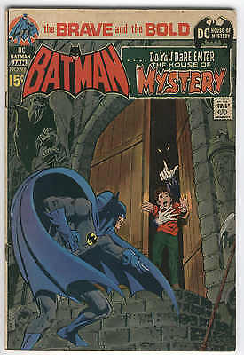 Brave And The Bold #93 Batman & The House Of Mystery Neal Adams Art 1971 VG