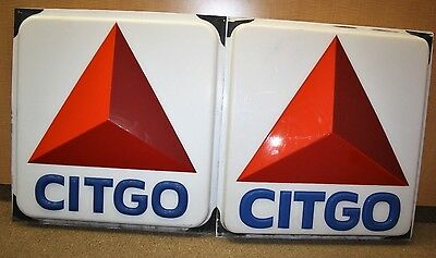Lot Of 2 Large Citgo Sign's 3-Dimensional Advertising Nice Condition *no Cracks*